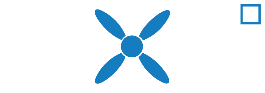icon propeller blue